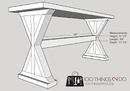 diy entryway table plans diy entryway table sofa table 100 things 2 do