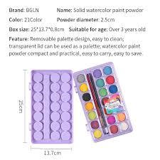 aliexpress com buy bgln 21colors powder solid watercolor paint