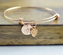 personalized gold bracelet dog paw bracelet dog paw jewelry dog gift personalized