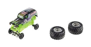 monster truck videos crashes amazon com wheels monster jam crash and carry arena play set