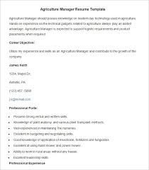 Good Examples Of Skills For Resumes by Agriculture Resume Template U2013 24 Free Samples Examples Format