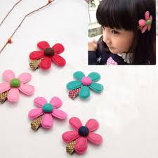 baby hair clip 1piece hot selling girl hairclip mini cloth flower hair clip