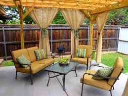 pergola curtains for outdoor living area