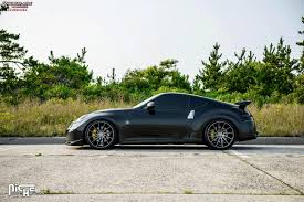 nissan 370z custom black nissan 370z niche surge m114 wheels black u0026 machined w dark tint