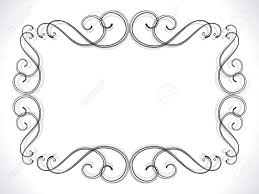 abstract floral ornamental border vector illustration royalty free