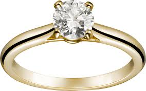 cartier engagement rings crn4235100 1895 solitaire ring yellow gold cartier