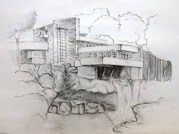 falling water house by phamthuhuong on deviantart