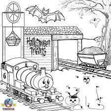 thomas train trick treat dot dot halloween printables
