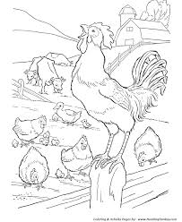 farm coloring pages printable farm barn rooster