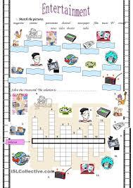 Free Time Worksheets Entertainment English Pinterest Entertainment Worksheets
