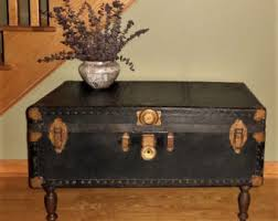 Vintage Trunk Coffee Table Steamer Trunk Etsy