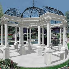 marble gazebo for your home outdoor decor in white and black color marble gazebo for your home outdoor decor in white and black color