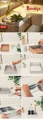 14 best decoracion de casa images on pinterest decoration fit good idea with mirror in inside of tray and using advehise roll on sides to create a cool look would maybe try with diff material not silver gems