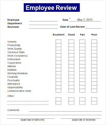 sample employee review template 7 free documents download in