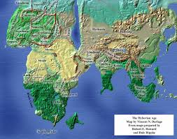 Amazon World Map by Maps Of The Hyborian Age