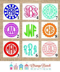 monogram stickers monogram decal monogram sticker iphone by orangebeachboutique