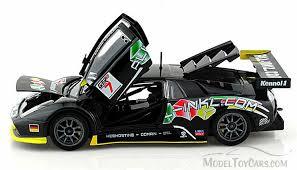 lamborghini murcielago racing lamborghini murcielago gt race car 7 black bburago 28001 1
