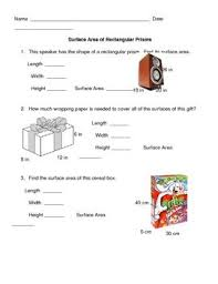 28 best math surface area images on pinterest surface area