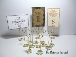 wedding table number holders gold table number holders like this item gold table number holders