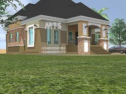 5 Bed Bungalow House Plans Ibekwe 5 Bedroom Bungalow Residential Homes And Public Designs