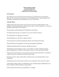 Treasurer Job Description Sample Icu Nurse Job Description Resume Free Resume Example And Writing