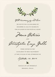 wedding ceremony invitation wording italian wedding invitation wording 12969
