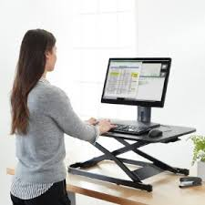adjustable standing desk converter amazon com amazonbasics height adjustable sit stand desk converter