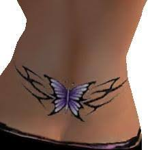 second marketplace purple butterfly lower back by