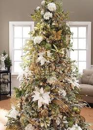 image result for white poinsettia tree decorations
