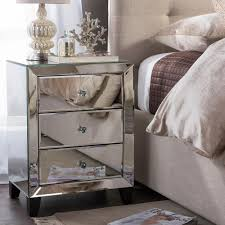 tall black bedside table furniture mirror furniture set mirrored bedroom tall drawers small