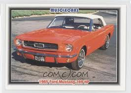 1965 mustang 289 horsepower 1992 collect a card musclecars 26 1965 ford mustang 289