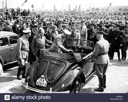 ferdinand porsche beetle ferdinand porsche with adolf at a volkswagen 1938 stock
