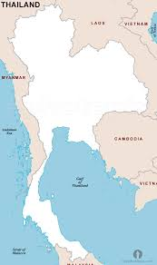 South Asia Blank Map by Thailand Outline Map Outline Map Of Thailand Thailand Country