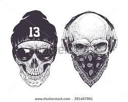 nixvex skull with guns free vector free vector stock