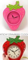 kitschy strawberry clock diy dream a little bigger
