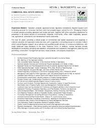 Commercial Real Estate Resume Cv Kevin J Mcroberts