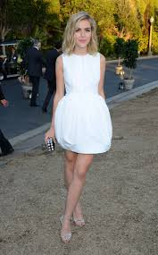 white party dresses kiernan shipka white party dress 8th annual oceana seachange
