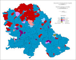 World Religions Map by This Is A Religious Map Of Vojvodina Serbia According To The 2011