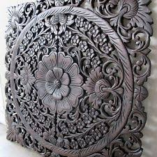 wall decor carved wood panel asian home by siamsawadee