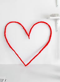 Valentine S Day Wall Decoration by Diy String Heart Wall Art For Valentine U0027s Day Shelterness