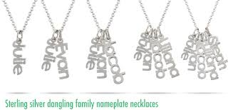 name necklace charms images Modern genealogy family name necklace jewelry png