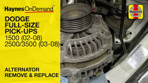 how to replace the alternator on a dodge ram 1500 2002 2008