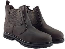 foster footwear mens groundwork gr20 slip on dealer work brown