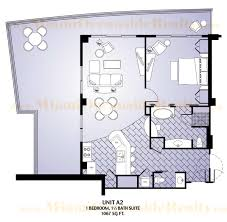 fontainebleau iii sorrento floor plan unit a2 miami beach mls
