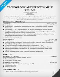 Architectural Resume Examples by Technology Architect Resume Resumecompanion Com Tech Resume