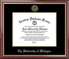 of michigan diploma frame of michigan diploma frame embossed seal mahogany