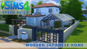 the sims 4 modern japanese style home speed build house