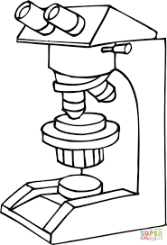 microscope at work coloring page free printable coloring pages