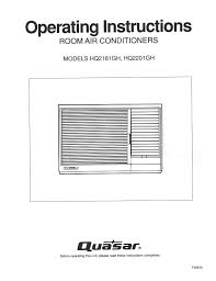 quasar air conditioner hq2181gh user guide manualsonline com
