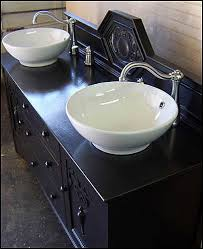 Bathroom Vanities With Bowl Sink Photo Of Top View Antique Bathroom Vanity Black Shabby Chic